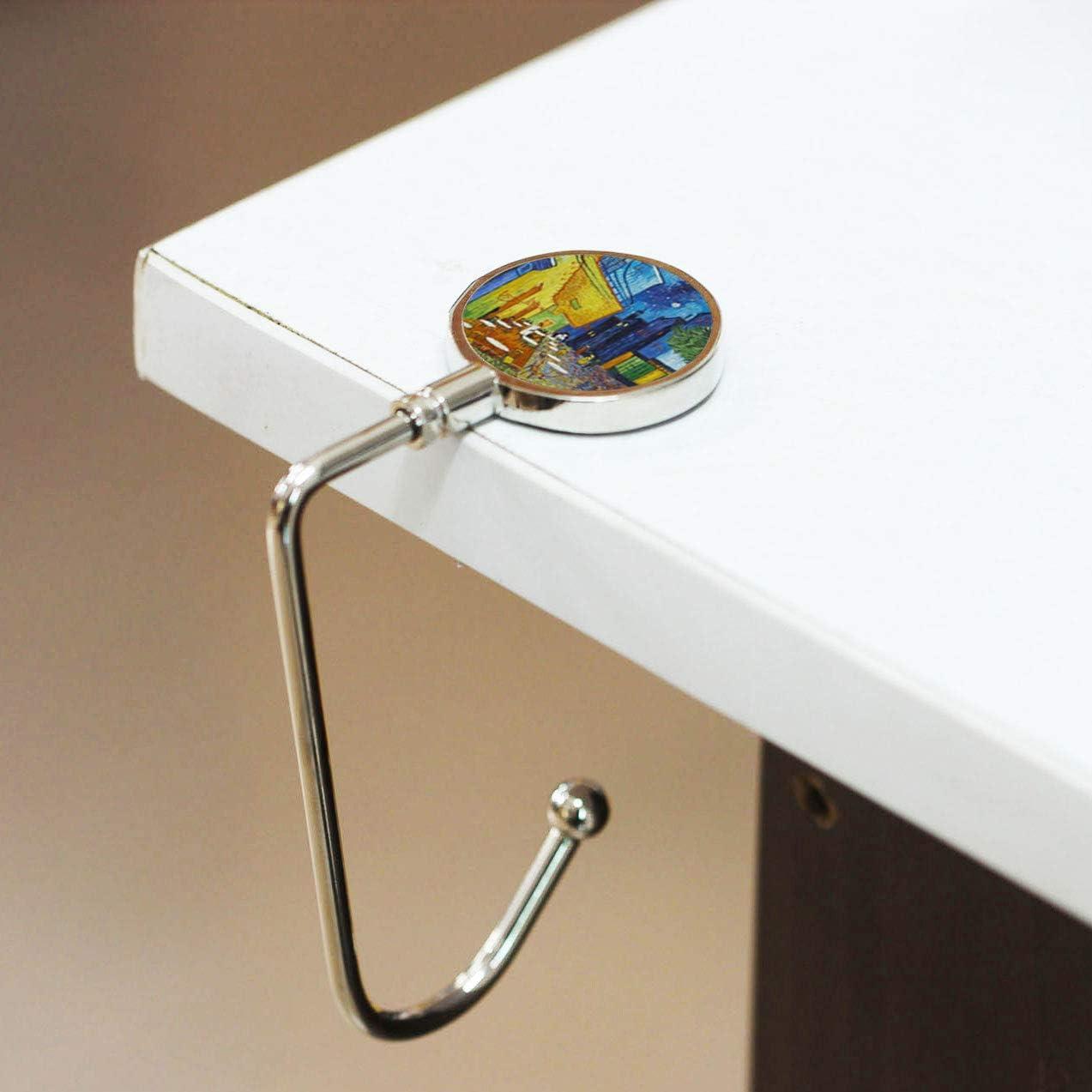 Cheliz Purse Hook Set of 3 Hanger Table Hanger Holder Womens Bag Storage 4-Crystal