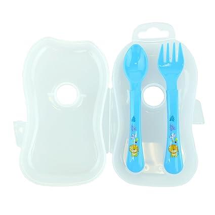 Bid Buy Direct® 3pc Set Viaje Cubiertos caso - 1 tenedor y 1 ...