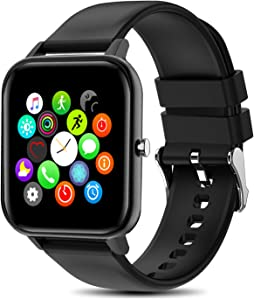 """Yocuby Smart Watch for Men Women, 1.4"""" Touch Screen Sport Smartwatch for iOS Android Phone,IP68 Waterproof, Heart Rate/Sleep Monitor, All Day Fitness Tracker"""