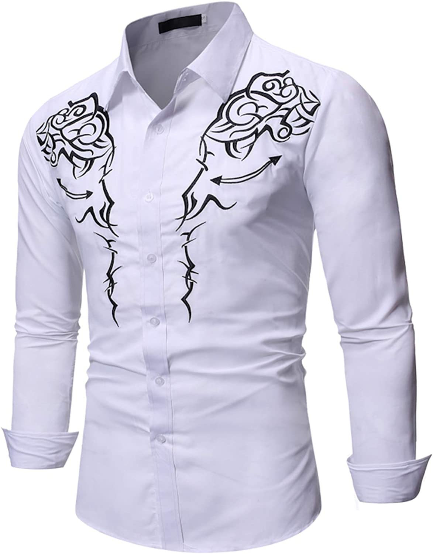 Mr.BaoLong&Miss.GO Otoño Camisas De Manga Larga para Hombres ...