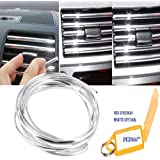 Speedwav 3 Meters U Shape DIY Car-Styling Interior Air Vent Grille Switch Rim Trim Outlet Decoration Strip Moulding Chrome Mould_Trim18