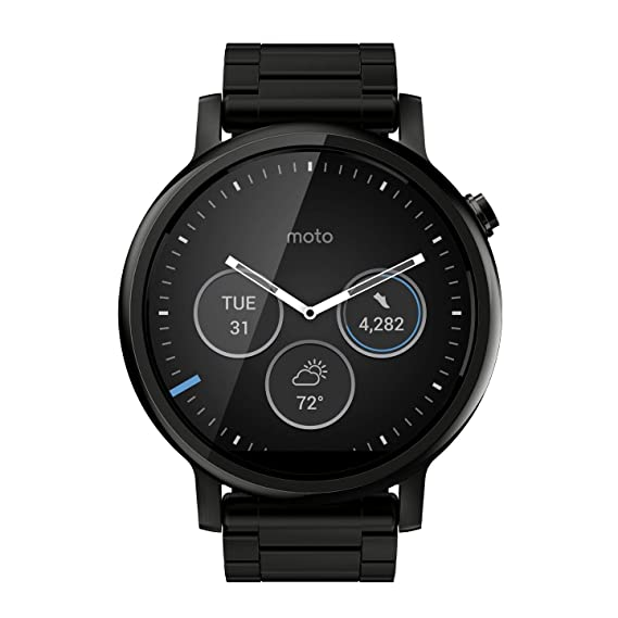 Amazon.com: Motorola Moto 360 (2nd Gen.) - Mens 46mm, Black ...