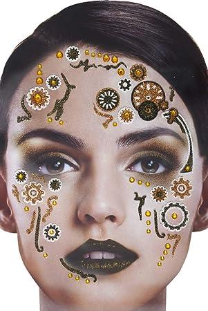 Set de Tatuajes Adhesivos con Brillos en la Cara del Tatuaje - El ...