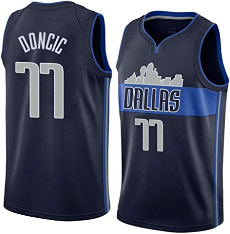 Lalagofe Luka Doncic, Camiseta de Baloncesto Dallas Mavericks #77 ...