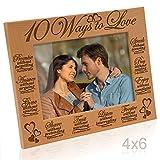 Kate Posh - 10 Ways to Love Bible Verses- Promise, Answer, Give, Share, Trust, Listen, Forgive, Speak, Pray & Enjoy - Picture Frame (4x6 Horizontal)