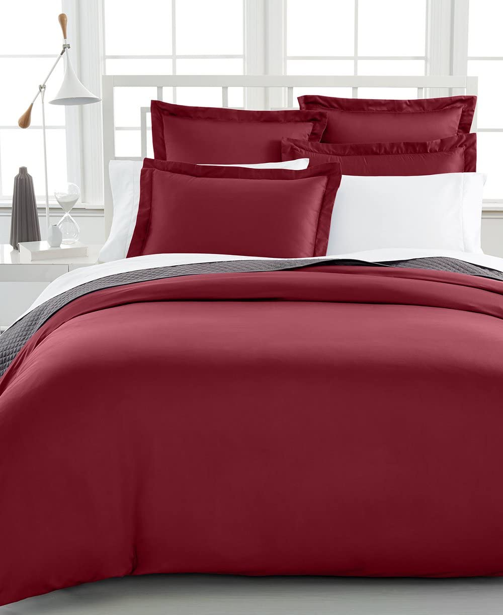 Bedding Charter Club Damask Stripe Full Queen Duvet Cover 100 Supima Cotton 550 Thread Count Home Kitchen