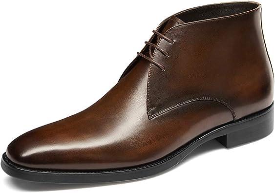 black leather chukka boots