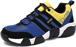 Qiusa Herren Schnürschuhe Soft Sohle Rutschfeste Lässige Durable Breathable Comfort Schuhe (Farbe : Orange, Größe : EU 40)