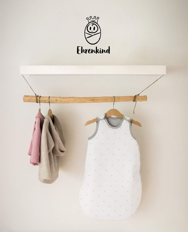 Bio-Baumwolle Ganzjahres Schlafsack Baby Gr 50//56 Farbe Rosa mit wei/ßen Punkten Ehrenkind/® Babyschlafsack Rund