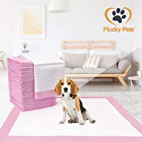 Plucky Pets - 50/100/200/400 Training and Puppy Pads Pee Pink Pads for Dogs 60x60cm - Super Absorbent & Leak-Free (50 Pads)