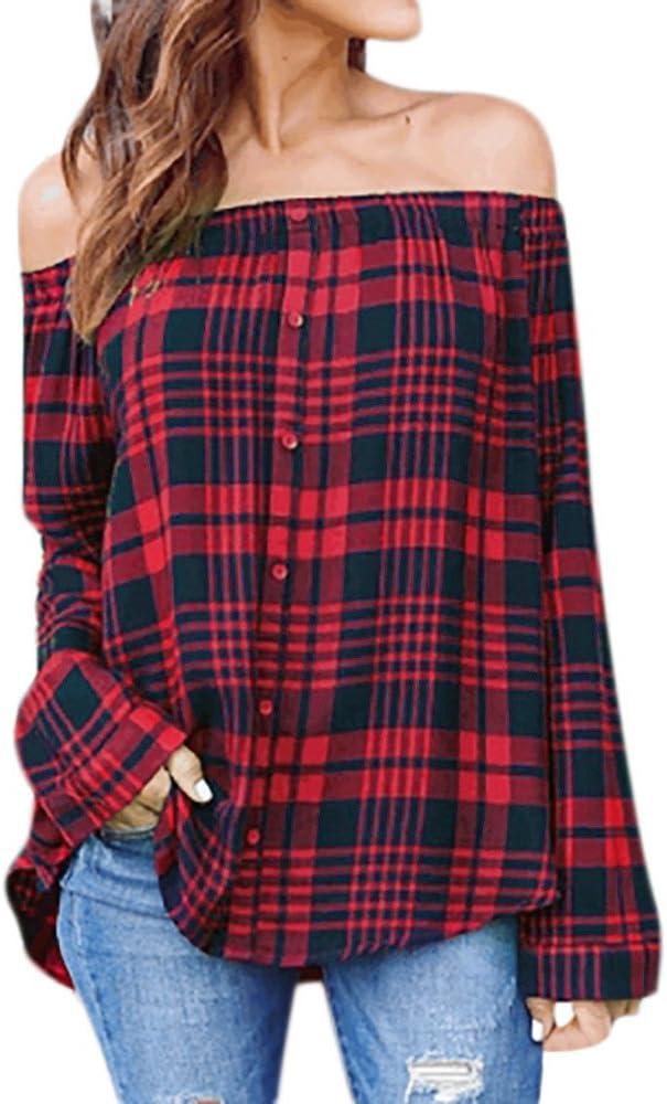 Amazon.es: Camisas A Cuadros Mujer: Ropa
