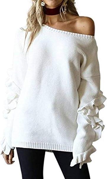 Pullover Mujer Primavera Otoño Elegante Moda Anchas Sudadera