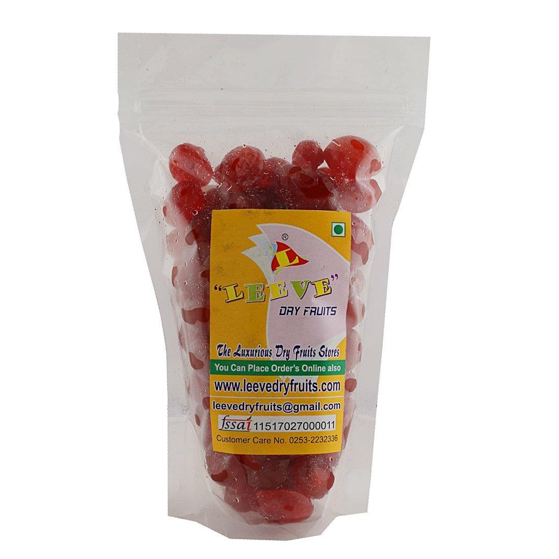 Leeve Dry Fruits Hole Red Cherries Glazed Karonada - 400 Gms