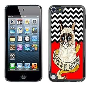 - Chevron Grumpy Cat - - Fashion Dream Catcher Design Hard Plastic Protective Case Cover FOR Apple iPod Touch 5 Retro Candy
