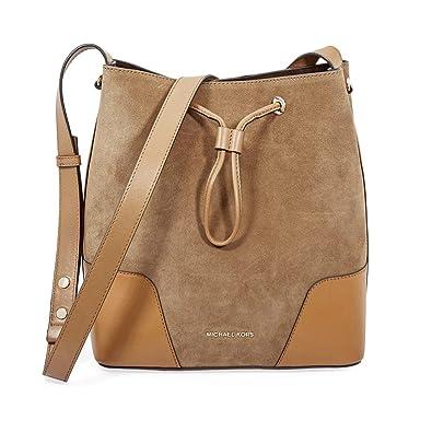 48b23215a29c Michael Kors Cary Ladies Medium Suede   Leather Bucket Bag 30F8G0CM2S248
