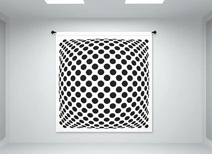 u0026quot;Polka Dotsu0026quot; Op Art Illusion - Fabric Wall Panel in u0026quot;Mad  sc 1 st  Amazon.com & Amazon.com: