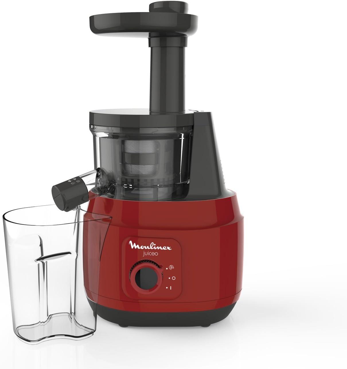 Moulinex Juice ZU150510  - Licuadora para Frutas y Verduras, Control Pulpa Ajustable, Prensado Frío y Fácil Limpieza, Panel Manual, 2 Filtros y Boquilla Antigoteo