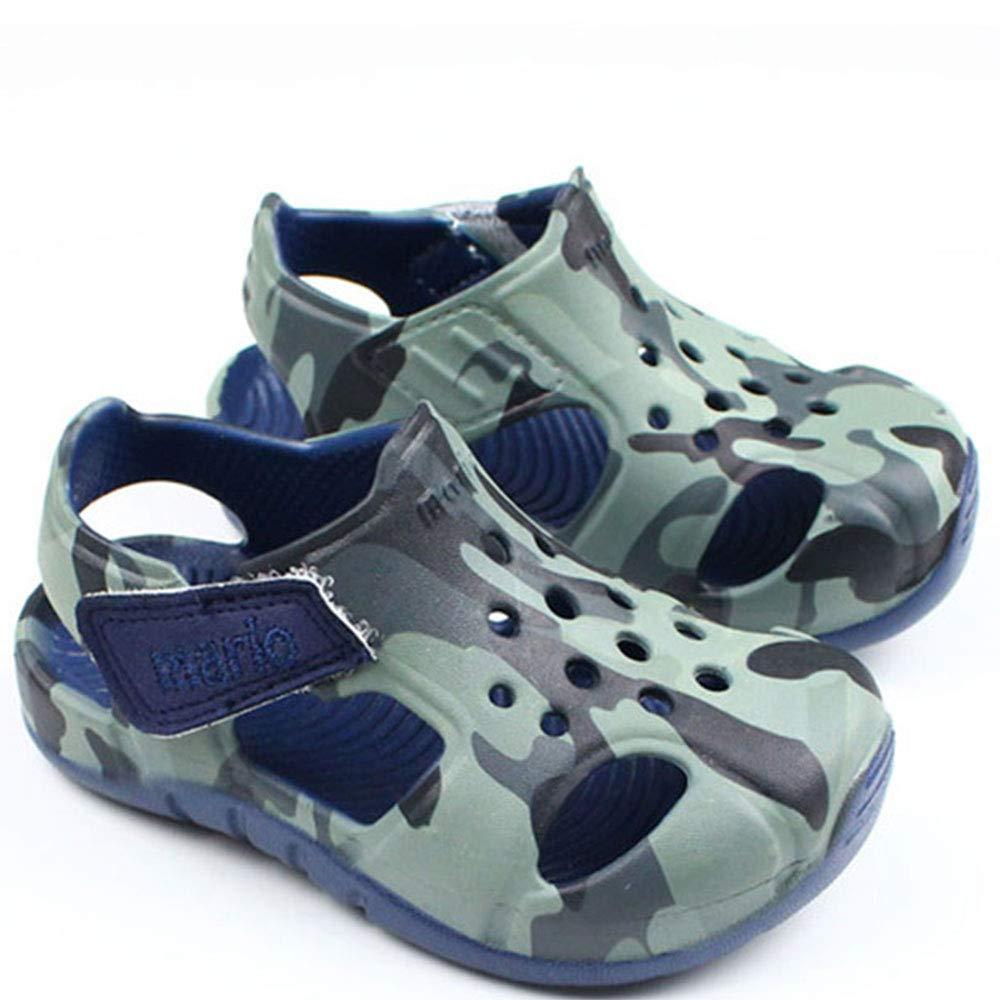Chaussures de Plage B/éb/é Enfant Fille Gar/çon,Et/é Velcro Sandales Bout Ferm/é en Respirant EVA Mixte Enfants