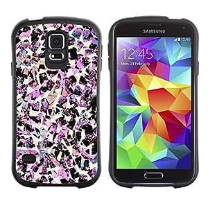 """Hypernova Slim Fit Dual Barniz Protector Caso Case Funda Para Samsung Galaxy S5 [Pájaros Arte rosa de la moda decorativa""""]"""