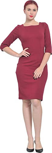 Marycrafts Womens Elegant Office Business Evening Knee Bodycon Dress