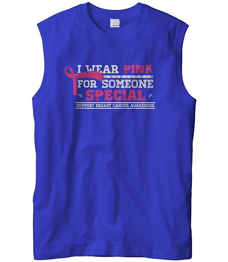 Cybertela Mens I Wear Pink For Someone Special Sleeveless T-Shirt