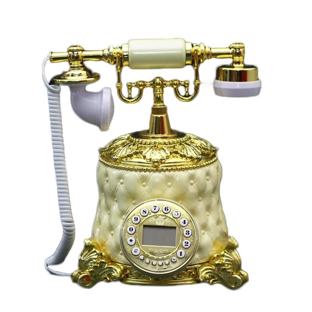 ZYN オフィス家庭のリビングルームの装飾に使用されるアンティーク電話の固定電話 NYZ (色 : イエロー いえろ゜)  イエロー いえろ゜ B07H6R2PN4