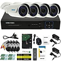OWSOO 1TB 4CH AHD 1080N/720P 1500TVL CCTV Surveillance DVR Security System HDMI P2P Cloud Onvif Network Digital Video Recorder&4720P Outdoor/Indoor Infrared Bullet Camera&460ft Cable support IR-CUT
