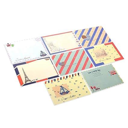 Juego de 48 piezas de papel para escribir cartas y sobres ...