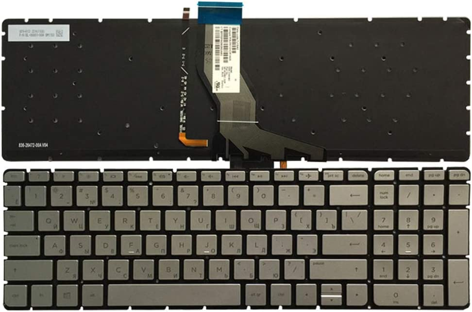 Green Word Laptop Replacement Keyboard Fit HP Pavilion 15-AK020NR 15-AK030NR 15-AK095NR 15-AK099NR 15-AK002NA 15-AK001NG 15-AK001NF US Layout with Backlight
