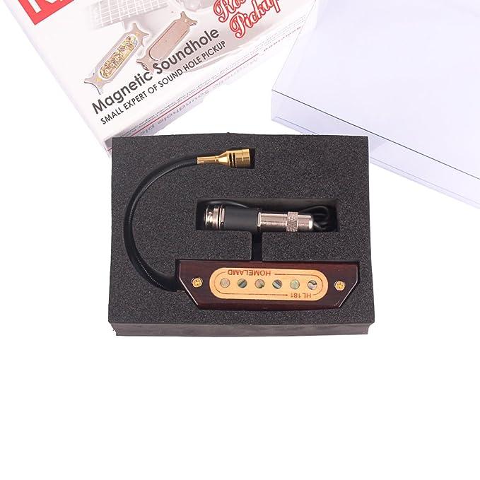Sharplace Pastilla de Sonido Magnético para Guitarra Acústica Clásica, Rosewood Sound Hole Pickup: Amazon.es: Instrumentos musicales