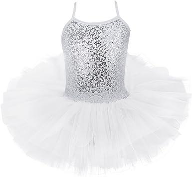 iiniim Maillot Vestido de Ballet Danza Niña Maillot Tirantes ...