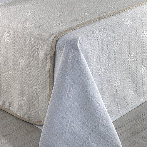 Sabanalia Roseta - Colcha de piqué (disponible en varios tamaños y colores), Cama 120 - 215 x 280, blanco: Amazon.es: Hogar