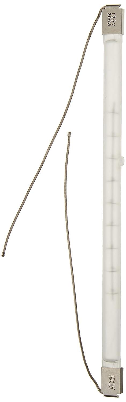Ushio BC6449 1001288 300W Halogen Light Bulb QIR Heat Lamp Translucent Metal Sleeve and Wire Leads 120V