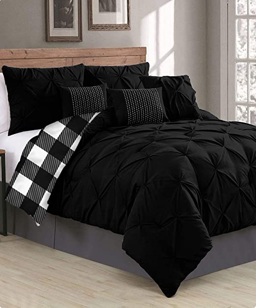 Black Duvet Set with Pillow Case 100/% Soft Quilt Bedding Single Double King Size