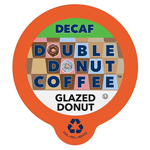 Double Donut Decaf Glazed Donut Flavored Coffee Coffee Single Serve Cups For Keurig K Cup Brewer, 80 Count