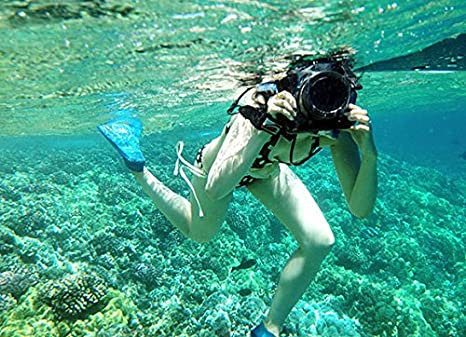 Dicapac WP-S5 - Carcasa submarina para cámara (Poliuretano, PVC, 450 g, 210 x 180 x 50 mm): Amazon.es: Electrónica