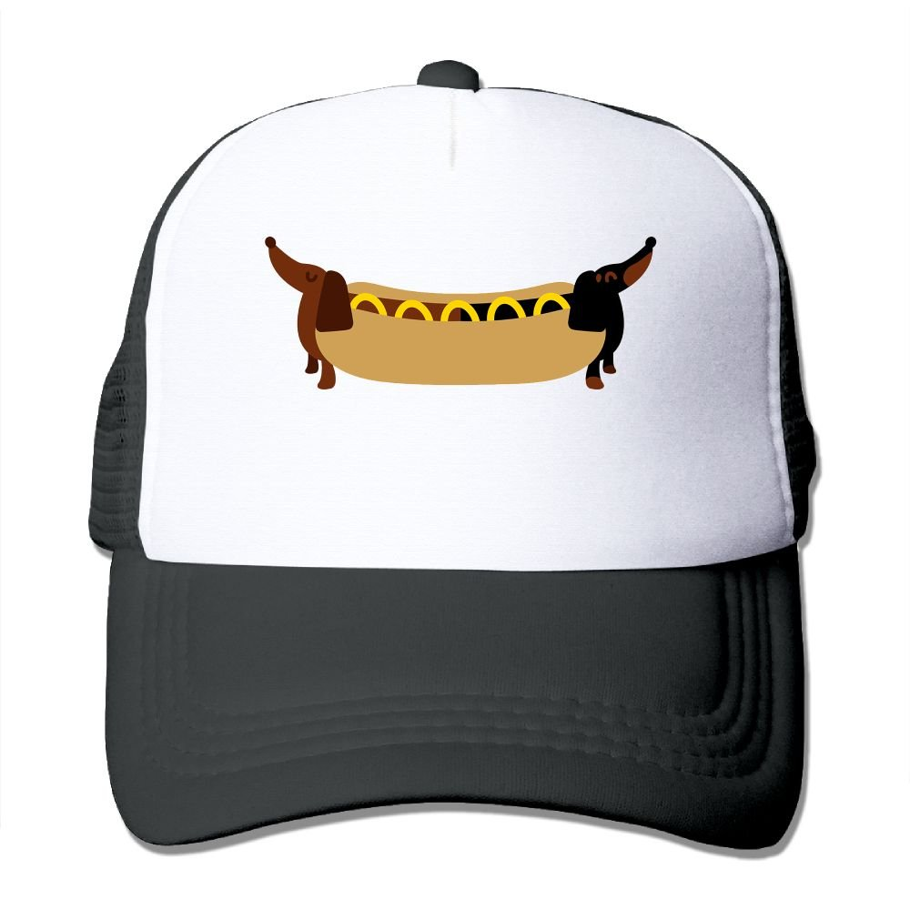 FeiTian Dachshund Puppy Comfort Baseball Caps For College Students Fashionable Great For Sports Running Polo Style Hats