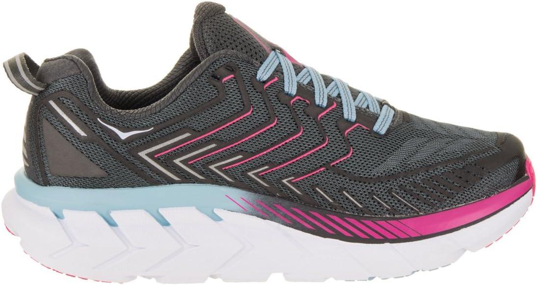 HOKA ONE ONE CLIFTON 4 - Zapatillas de running para mujer en color gris y rosa, gris oscuro, 39 1/3: Amazon.es: Deportes y aire libre