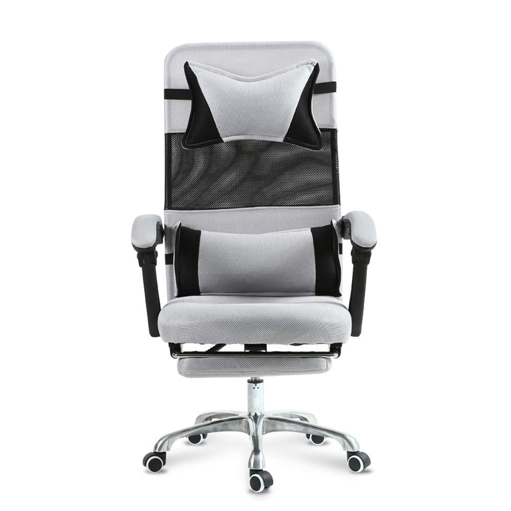 WYY HPLL kontorsstol svängbar stol, hög rygg kontor uppgift datorstol nät svängbar justerbar ergonomisk med ländrygg stöd/nackstöd och sitthöjd justering svängbar stol (färg: B) c