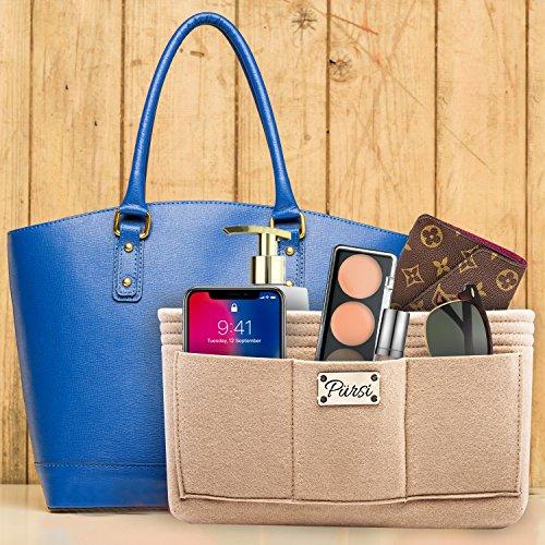 Pursi Handbag Purse Organizer Insert - Felt Fabric Multi Compartment Design by Pursi (Image #6)