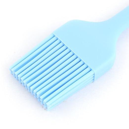 Amazon.com: eDealMax silicona Home Utensilios de cocina que cocina la herramienta jeringa para pavo Barbacoa cepillo de pasteles azul claro: Kitchen & ...