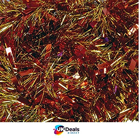 Red//Green//Gold Chunky//Fine Christmas Tinsel Christmas Decoration 4 Metre