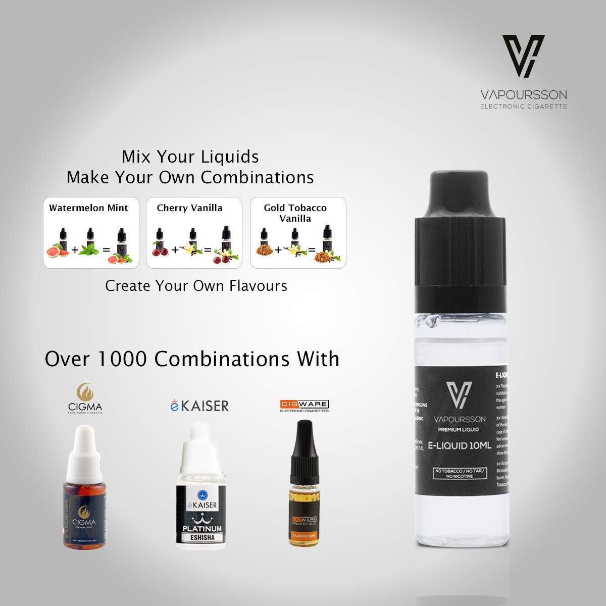 VAPOURSSON 5 X 10ml E Liquido Sweet Moments | Milky Way | Mothers Delight | Sweet Melody | Magic Blend | Raspberry Blast | Ingredientes de Alto Grado ...
