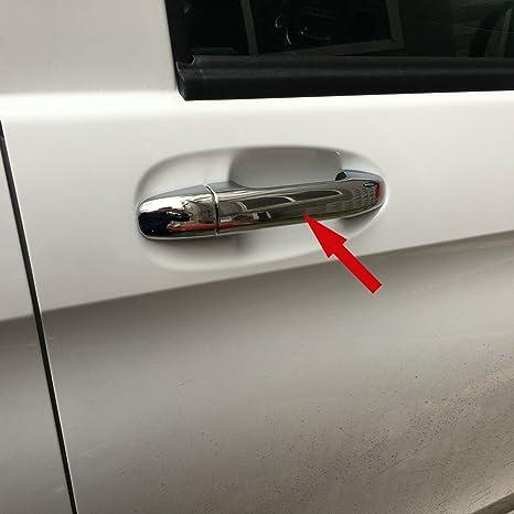 Generic cromado tirador de puerta de coche moldura Fit For ...