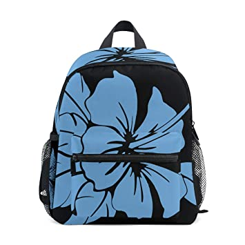 Amazoncom Blue Hibiscus Flower Petals Childrens Backpack Middle