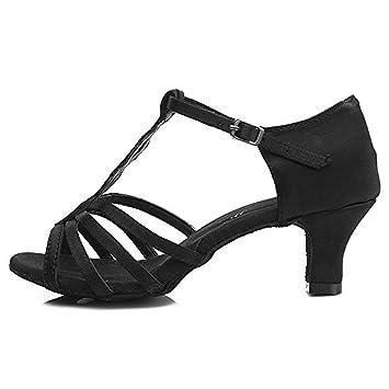 Sandalias Salón Satinado De Mujer Baile Para Saco Zapatos Latino XiuTPkOZ