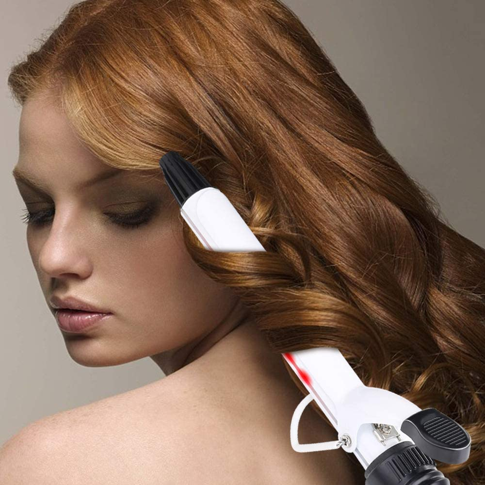 Rizador del tubo de cerámica con forma de onda grande y rizador infrarrojo de múltiples funciones para proteger el pelo sin la lesión, conveniente para todas las clases de calidad del pelo