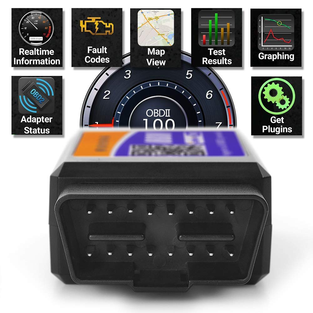 Torque OBD Fusion WiFi OBDII Scanner Car WiFi OBD2 Scanner OBDII Scan Code Reader Adapter Check Engine Light Diagnostic Tool iOS /& Android Work App inCarDoc