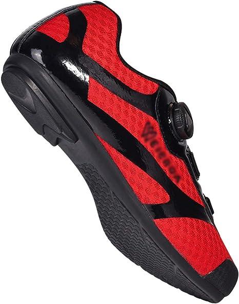 AEMUT Zapatillas de Ciclismo para Hombre, Bicicleta Transpirable ...