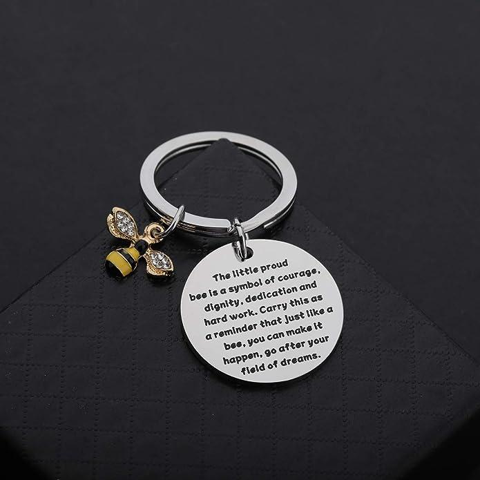 Honeybee Charm Dignity Little Proud Bee Jewelry Inspirational Gift Graduation Present Courage Pendant Bumblebee Bee Necklace
